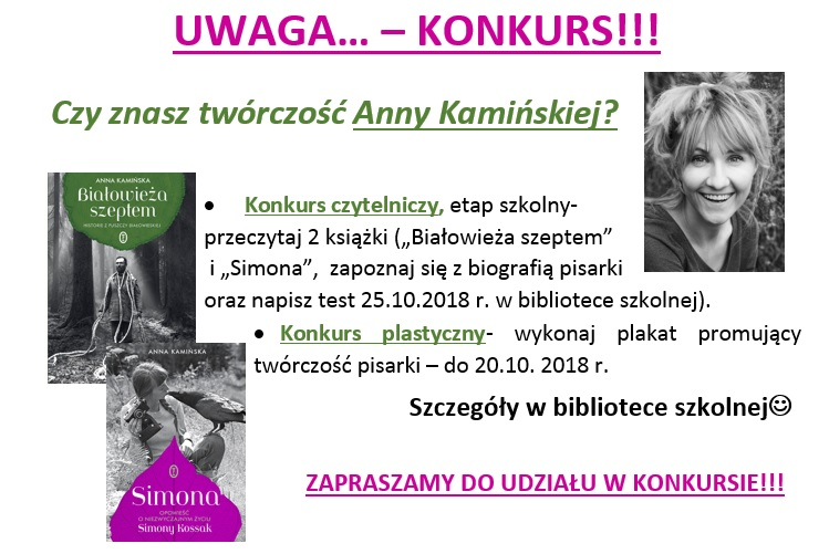 konkurs kaminska2018